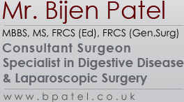 Mr. Bijen Patel - Consultant Surgeon Spcieliast in Digestive Disease & Laparoscopic Surgery